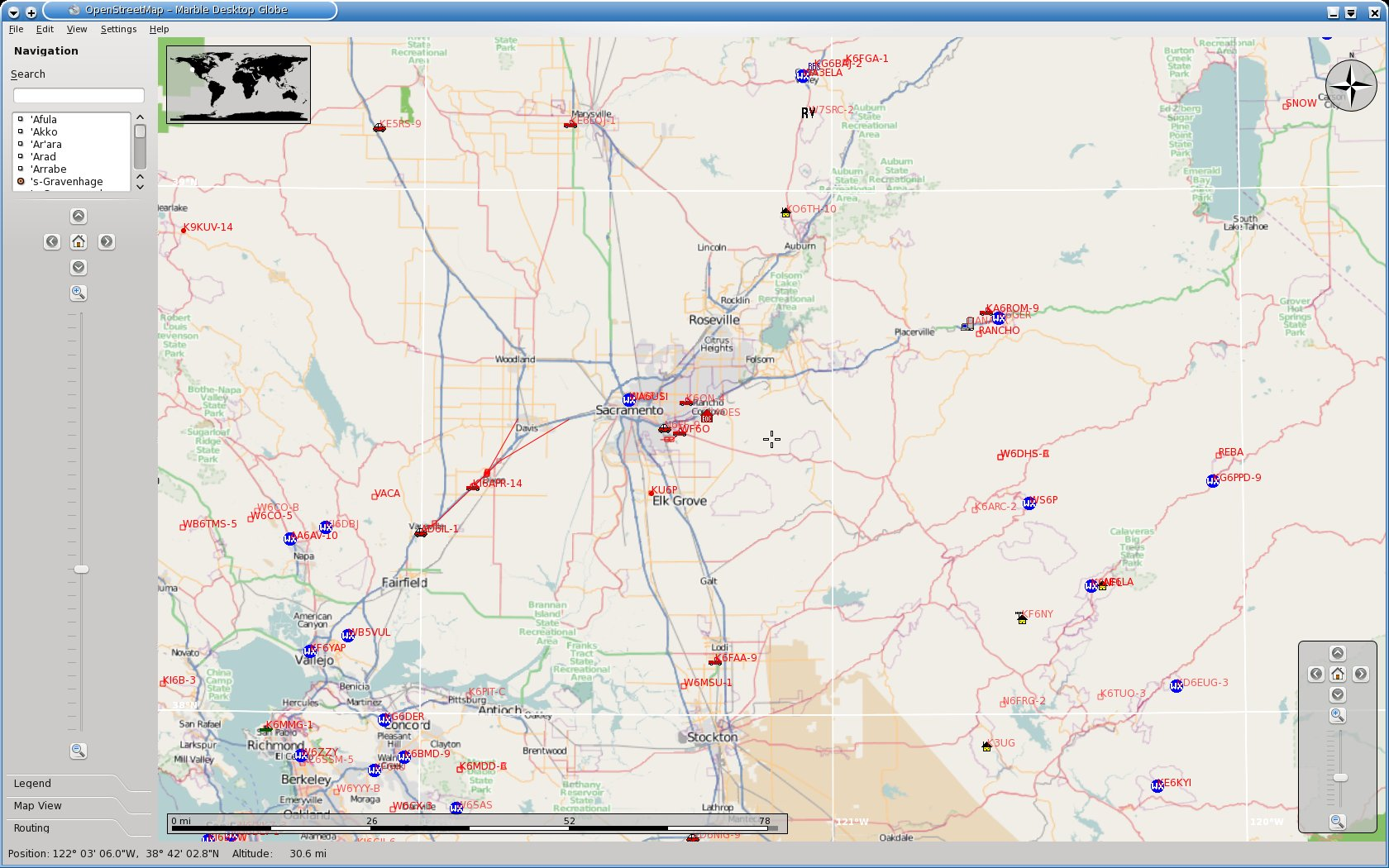 APRS support for Marble